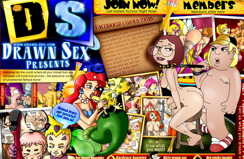 Famous toons come unleashed at Drawn Sex!