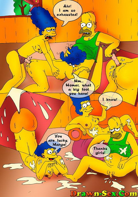 Drawn sex gallery - The Simpsons & Kim Possible fucking - Drawn Extreme XXX Drawn Gang Bang
