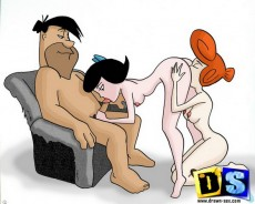 New drawn sex between Flintstones